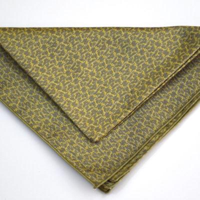ezo-pochette-soie-gris-jaune vert - jacquard- made in france-lyon-croix rousse-boutique et magasin de soie à lyon