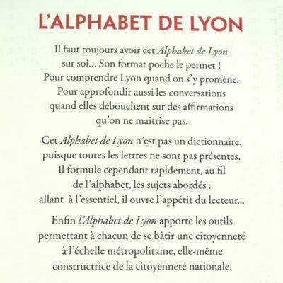 L'Alphabet de Lyon Editions Lyonnaises d'art et d'histoire