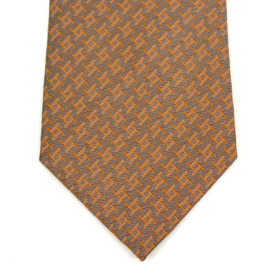 archi-cravate-pointe-soie-orange clair-jacquard-made in france - lyon - croix rousse- boutique et magasin de soie à lyon