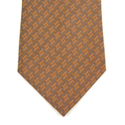archi-cravate-pointe-soie-orange clair-jacquard-made in france - lyon - croix rousse- boutique et magasin de soie à lyon