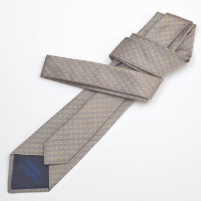 archi-cravate-soie-homme-gris-orange-soie-jacquard-made-in-france