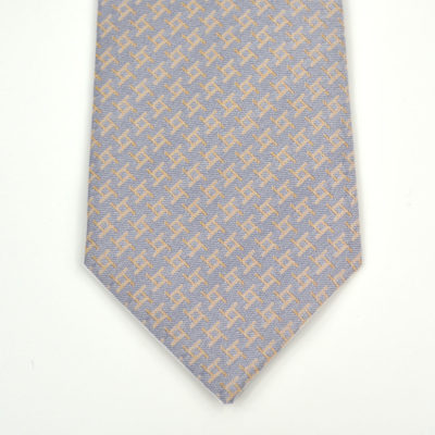 archi-cravate-soie-pointe-gris-orange-soie-jacquard-made-in-france