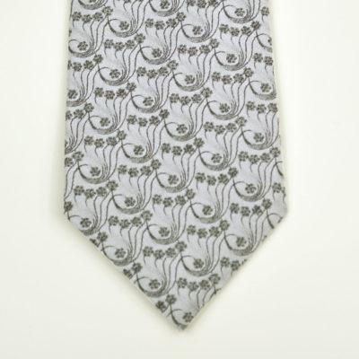millefiori-cravate-soie-pointe-gris clair-gris fonce- made in france - lyon - croix rousse - jacquard - boutique et magasin de soie à lyon