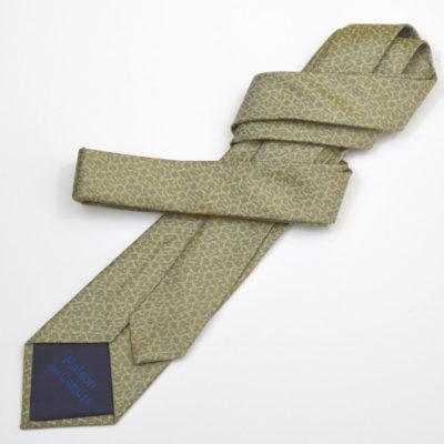 rezo-carvate-soie-homme-gris-jaune vert-soie-jacquard-made-in-france-boutique-foulard-soie-lyon