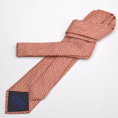 rezo-cravate-soie-homme-rouge-corail-soie-jacquard-made-in-france-boutique-foulard-soie-lyon