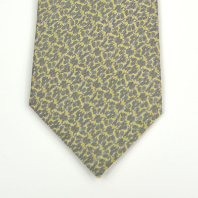 rezo-cravate-soie-pointe-gris-jaune vert-soie-jacquard-made-in-france-boutique-foulard-soie-lyon