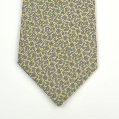 rezo-cravate-soie-pointe-gris-jaune vert-soie-jacquard-made-in-france