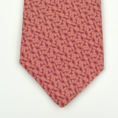 rezo-cravate-soie-pointe-rouge-corail-soie-jacquard-made-in-france-boutique-foulard-soie-lyon