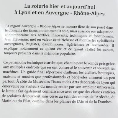 Soierie en Auvergne-Rhone Alpes Canuts mouliniers et soyeux Editions IDC- boutique-foulard-soie-lyon