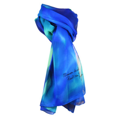 mousseline-soie-peint à la main-foulard-etole-étole-maison des canuts-label-france terre textile-made in france - fabrication française-fabriqué en france-lyon-croix rousse-soie de lyon-soierie lyonnaise-boutique soie-